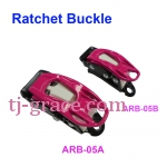 AL. RATCHET BUCKLE FOR SNOWBOARD BINDING, SKI
