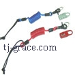 WIRE COIL LEASH W/LOCK
